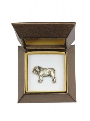 English Bulldog - pin (silver plate) - 2631 - 28912