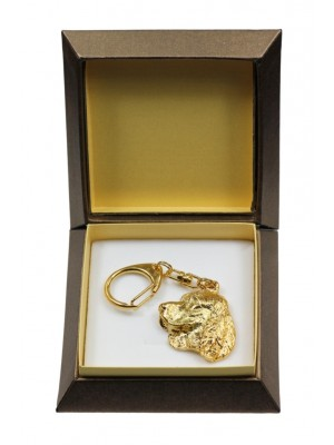 English Springer Spaniel - keyring (gold plating) - 2869 - 30530