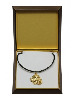 English Springer Spaniel - necklace (gold plating) - 3049 - 31685
