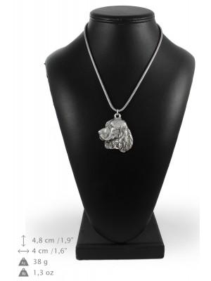 English Springer Spaniel - necklace (silver cord) - 3205 - 33227