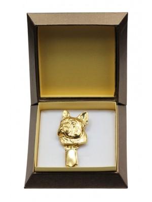 French Bulldog - clip (gold plating) - 2594 - 28555