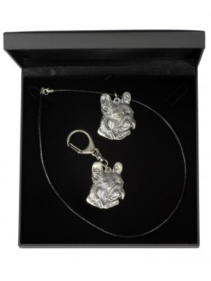 French Bulldog - keyring (silver plate) - 1785 - 11735