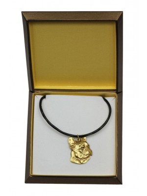 French Bulldog - necklace (gold plating) - 2487 - 27646