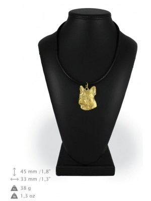 French Bulldog - necklace (gold plating) - 963 - 25464