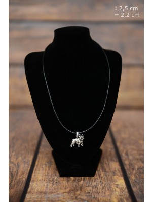 French Bulldog - necklace (strap) - 3853 - 37226