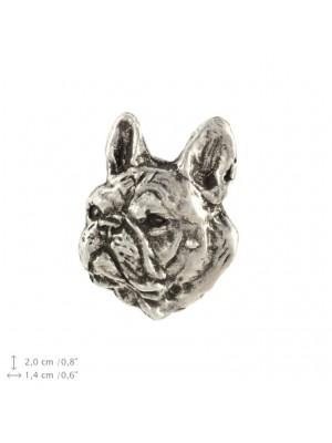 French Bulldog - pin (silver plate) - 2218 - 22253