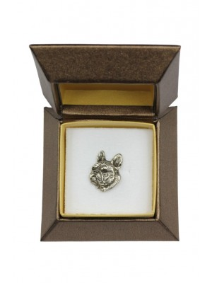 French Bulldog - pin (silver plate) - 2674 - 28956