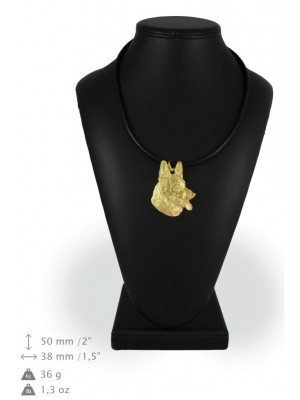 German Shepherd - necklace (gold plating) - 908 - 25323