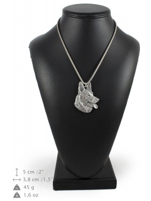 German Shepherd - necklace (silver cord) - 3154 - 33016