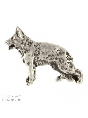 German Shepherd - pin (silver plate) - 2370 - 26080