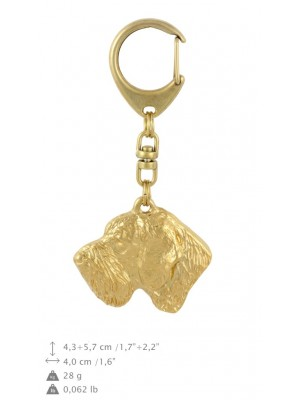 German Wirehaired Pointer - keyring (gold plating) - 875 - 30129