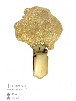 Grand Basset Griffon Vendéen - clip (gold plating) - 1045 - 26861
