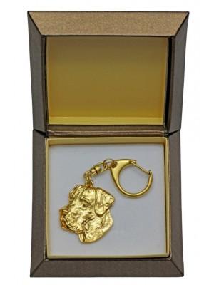 Great Dane - keyring (gold plating) - 2408 - 27279