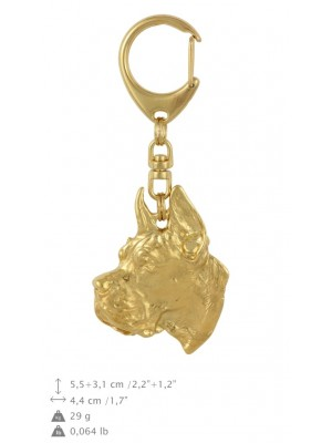Great Dane - keyring (gold plating) - 777 - 29065