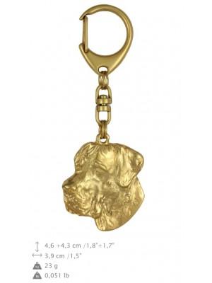 Great Dane - keyring (gold plating) - 810 - 25092