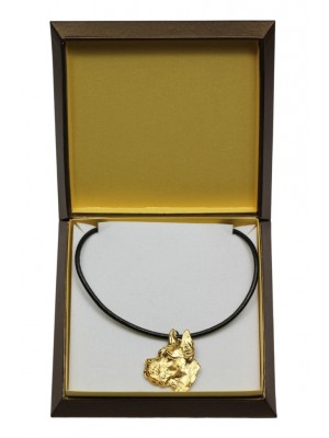 Great Dane - necklace (gold plating) - 3019 - 31655