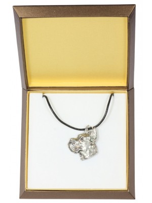 Great Dane - necklace (silver plate) - 2897 - 31041