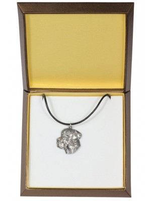 Great Dane - necklace (silver plate) - 2928 - 31072