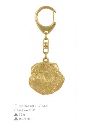 Griffon Bruxellois - keyring (gold plating) - 814 - 30005