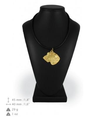 Irish Wolfhound - necklace (gold plating) - 968 - 25472