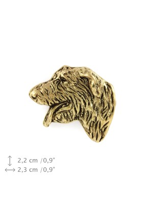Irish Wolfhound - pin (gold plating) - 1066 - 7816
