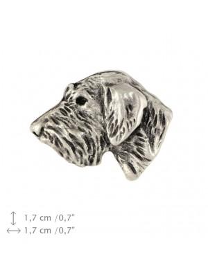 Irish Wolfhound - pin (silver plate) - 1528 - 26004