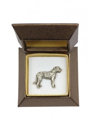 Irish Wolfhound - pin (silver plate) - 2639 - 28920