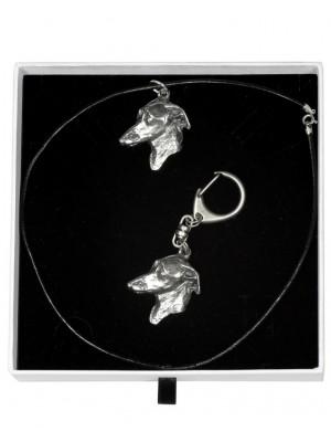 Italian Greyhound - keyring (silver plate) - 2008 - 16103