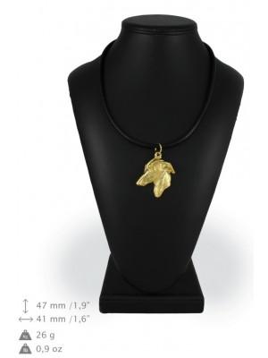 Italian Greyhound - necklace (gold plating) - 988 - 25508
