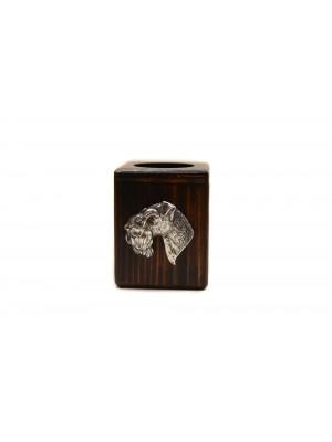 Kerry Blue Terrier - candlestick (wood) - 4017 - 37990