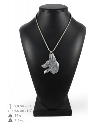 Malinois - necklace (silver chain) - 3343 - 34500