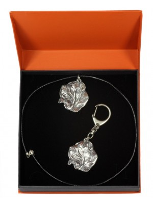 Neapolitan Mastiff - keyring (silver plate) - 2130 - 19446