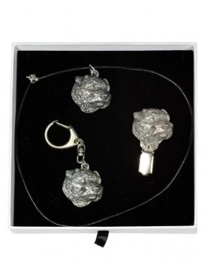 Norfolk Terrier - keyring (silver plate) - 2076 - 17987