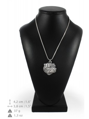 Norfolk Terrier - necklace (silver chain) - 3376 - 34642