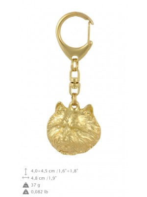 Norwich Terrier - keyring (gold plating) - 1739 - 30178