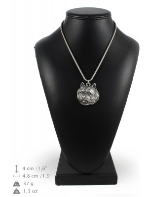 Norwich Terrier - necklace (silver cord) - 3249 - 33392