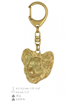 Papillon - keyring (gold plating) - 1376 - 25627