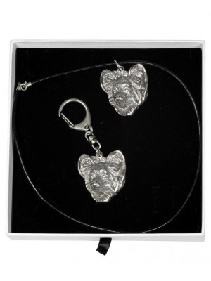 Papillon - keyring (silver plate) - 2039 - 16901