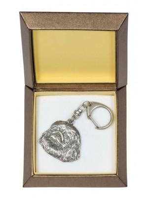 Pekingese - keyring (silver plate) - 2794 - 29914