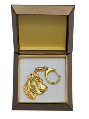 Perro de Presa Canario - keyring (gold plating) - 2437 - 27308