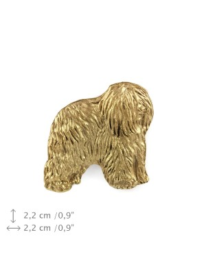 Polish Lowland Sheepdog - pin (gold plating) - 1068 - 7806