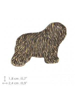Polish Lowland Sheepdog - pin (silver plate) - 1554 - 26044