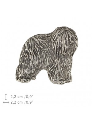 Polish Lowland Sheepdog - pin (silver plate) - 461 - 25953
