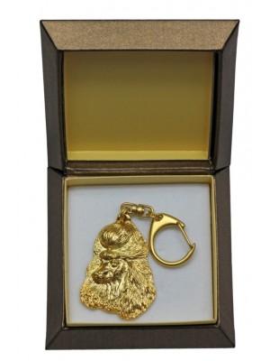 Poodle - keyring (gold plating) - 2420 - 27291