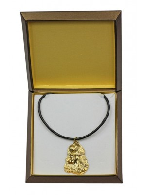 Poodle - necklace (gold plating) - 2495 - 27654