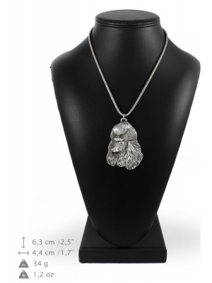 Poodle - necklace (silver cord) - 3194 - 33204