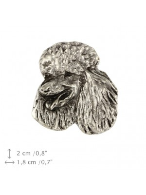 Poodle - pin (silver plate) - 451 - 25902