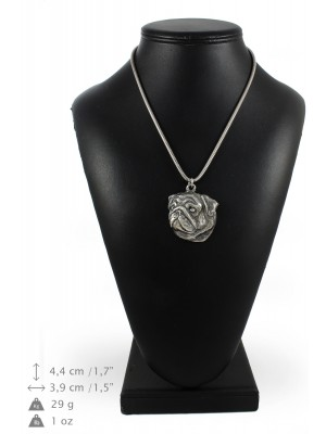 Pug - necklace (silver chain) - 3353 - 34594