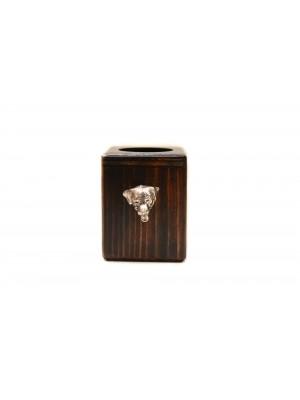 Rottweiler - candlestick (wood) - 3997 - 37890