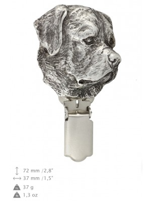 Rottweiler - clip (silver plate) - 277 - 26336